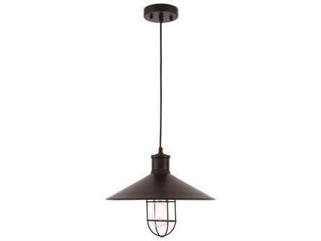 Living District by Elegant Lighting Black 15'' Wide Pendant Light