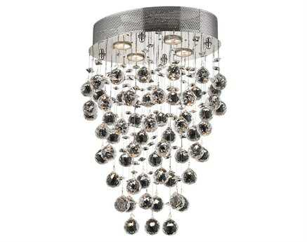 Elegant Lighting Galaxy Royal Cut Chrome & Crystal Four-Light 11.5'' Wide Pendant EG2022D16C