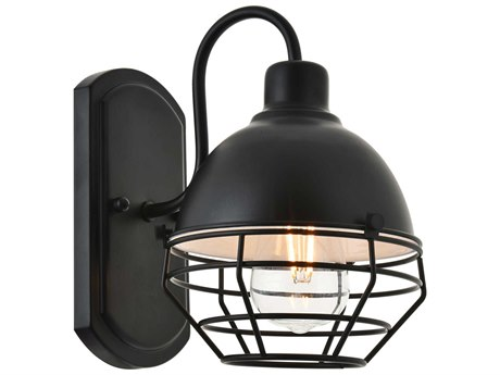 Living District by Elegant Lighting Black 7'' Wide Wall Sconce