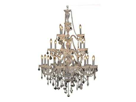 Elegant Lighting Giselle Royal Cut Chrome & Crystal 21-Light 38'' Wide Grand Chandelier EG7890G38C