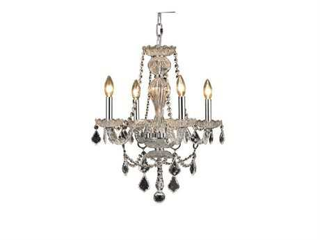 Elegant Lighting Giselle Royal Cut Chrome & Crystal Four-Light 20'' Wide Mini Chandelier