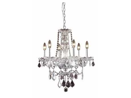 Elegant Lighting Giselle Royal Cut Chrome & Crystal Six-Light 21'' Wide Mini Chandelier
