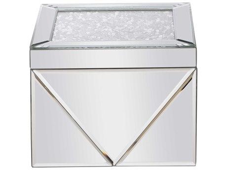 Elegant Lighting Modern Clear Mirror Jewelry Box EGMR9211