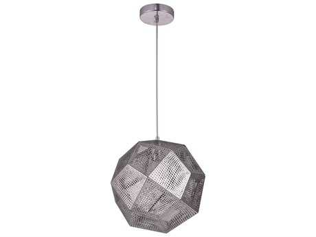 Elegant Lighting Kronos Chrome 13'' Wide Pendant Light
