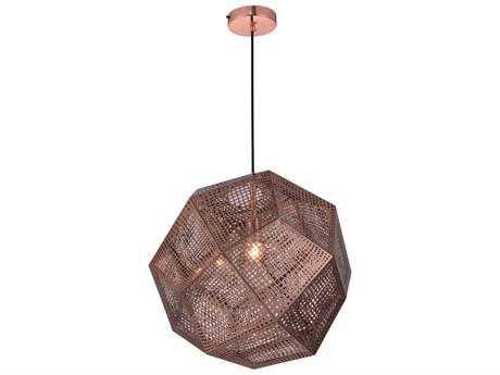 Elegant Lighting Kronos Copper 19'' Wide Pendant Light