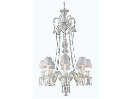Elegant Lighting Majestic Elegant Cut Chrome & Crystal Eight-Light 32'' Wide Grand Grand Chandelier EG8908D32C