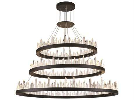 Elegant Lighting Malta Satin Dark Grey 128-Light 42'' Wide Grand Chandelier EG1705G3LSDG