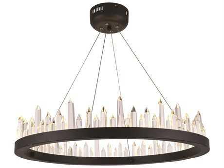 Elegant Lighting Malta Satin Dark Grey 32-Light 26'' Wide Pendant Light EG1705D26SDG