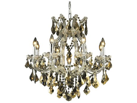 Elegant Lighting Maria Theresa Chrome Nine-Light 26'' Wide Chandelier with Royal Cut Crystal