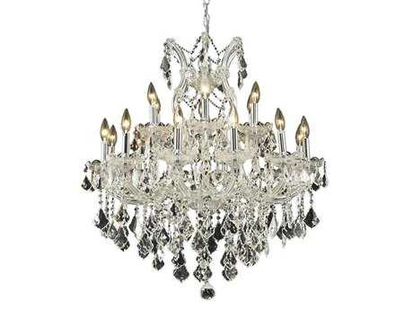 Elegant Lighting Maria Theresa Royal Cut Chrome & Crystal 19-Light 30'' Wide Chandelier EG2800D30C