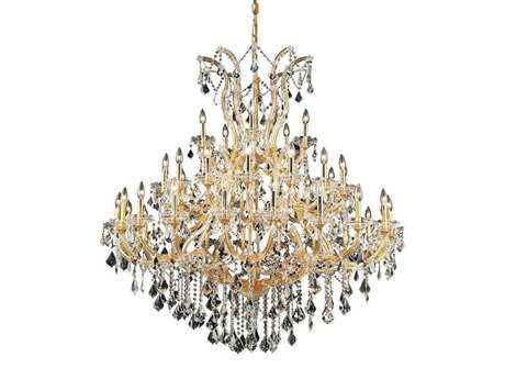 Elegant Lighting Maria Theresa Royal Cut Gold & Crystal 41-Light 52'' Wide Grand Chandelier EG2800G52G