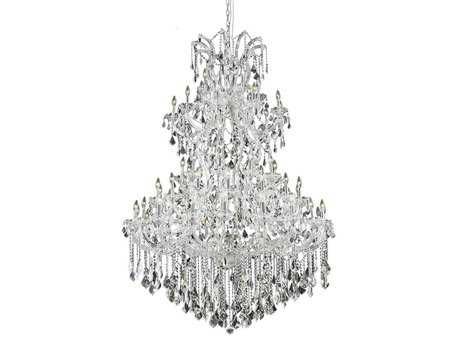 Elegant Lighting Maria Theresa Royal Cut Chrome & Crystal 61-Light 54'' Wide Grand Chandelier EG2800G54C