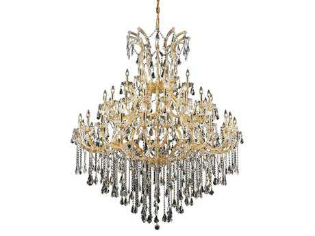 Elegant Lighting Maria Theresa Royal Cut Gold & Crystal 49-Light 60'' Wide Grand Chandelier EG2801G60G