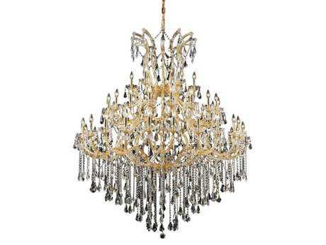 Elegant Lighting Maria Theresa Royal Cut Gold & Crystal 49-Light 60'' Wide Grand Chandelier EG2801G60G