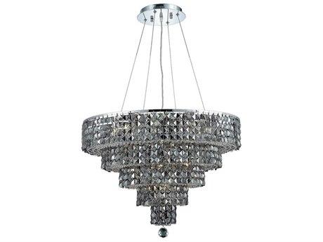 Elegant Lighting Maxim Royal Cut Chrome & Silver Shade 14-Light 26'' Wide Chandelier