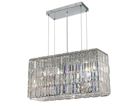 Elegant Lighting Maxim Royal Cut Chrome & Crystal Eight-Light 26'' Long Island Light EG2018D26C