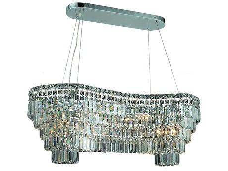Elegant Lighting Maxim Royal Cut Chrome & Crystal 14-Light 40'' Long Island Light EG2019D40C