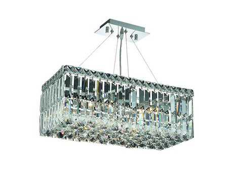 Elegant Lighting Maxim Royal Cut Chrome & Crystal Four-Light 20'' Long Island Light EG2034D20C