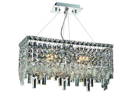 Elegant Lighting Maxim Royal Cut Chrome & Crystal Four-Light 20'' Long Island Light EG2035D20C