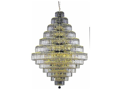 Elegant Lighting Maxim Royal Cut Gold & Crystal 38-Light 42'' Wide Grand Chandelier EG2038G42G