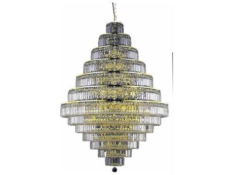 Elegant Lighting Maxim Royal Cut Gold & Crystal 38-Light 42'' Wide Grand Chandelier EG2038G42G