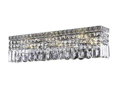 Elegant Lighting Maxim Royal Cut Chrome & Crystal Six-Light Vanity Light EG2032W26C