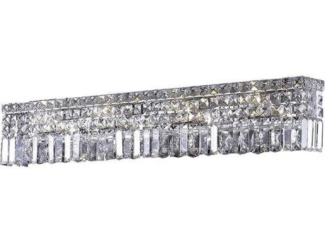 Elegant Lighting Maxim Royal Cut Chrome & Crystal Seven-Light Vanity Light EG2032W30C
