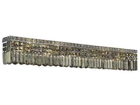 Elegant Lighting Maxim Royal Cut Chrome & Golden Teak Ten-Light Vanity Light EG2032W44CGT
