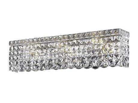 Elegant Lighting Maxim Royal Cut Chrome & Crystal Six-Light Vanity Light EG2033W26C