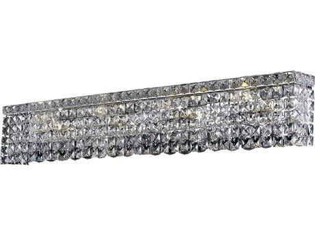 Elegant Lighting Maxim Royal Cut Chrome & Crystal Six-Light Vanity Light EG2033W30C