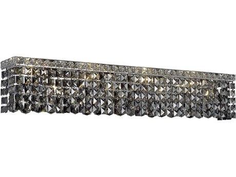 Elegant Lighting Maxim Royal Cut Chrome & Silver Shade Six-Light Vanity Light EG2033W30CSS