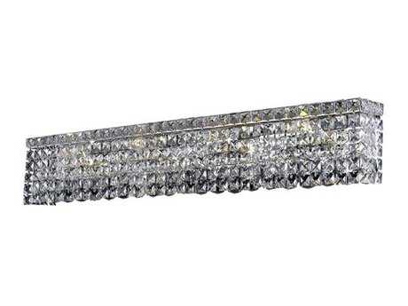 Elegant Lighting Maxim Royal Cut Chrome & Crystal Eight-Light Vanity Light EG2033W36C