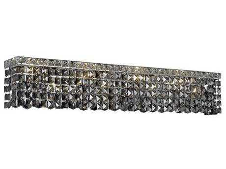 Elegant Lighting Maxim Royal Cut Chrome & Silver Shade Eight-Light Vanity Light EG2033W36CSS