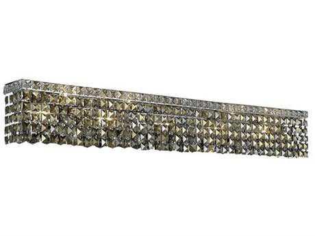 Elegant Lighting Maxim Royal Cut Chrome & Golden Teak Ten-Light Vanity Light EG2033W44CGT