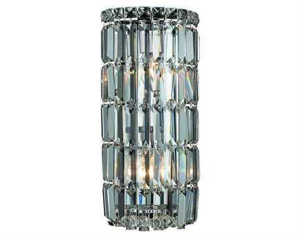 Elegant Lighting Maxim Royal Cut Chrome & Crystal Two-Light Wall Sconce EG2030W8C