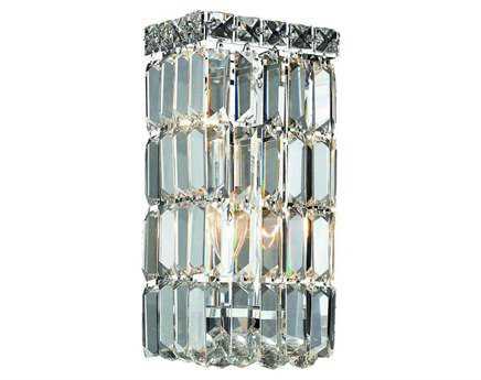 Elegant Lighting Maxim Royal Cut Chrome & Crystal Two-Light Wall Sconce EG2032W6C