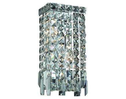 Elegant Lighting Maxim Royal Cut Chrome & Crystal Two-Light Wall Sconce EG2033W6C