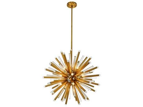 Elegant Lighting Maxwell Burnished Brass 21-Light 36'' Wide Pendant Light EG1141G36BB