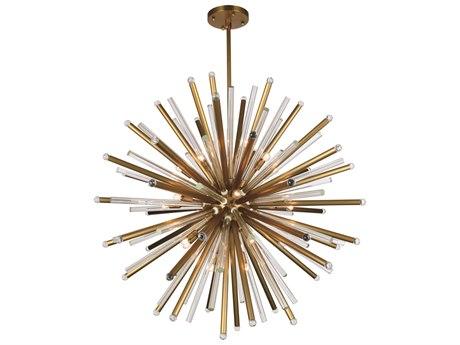Elegant Lighting Maxwell Burnished Brass 21-Light 48'' Wide Pendant Light EG1141G48BB