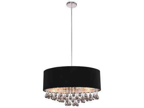 Elegant Lighting Metro Chrome Six-Light 24'' Wide Pendant Light EG2105D24CRC