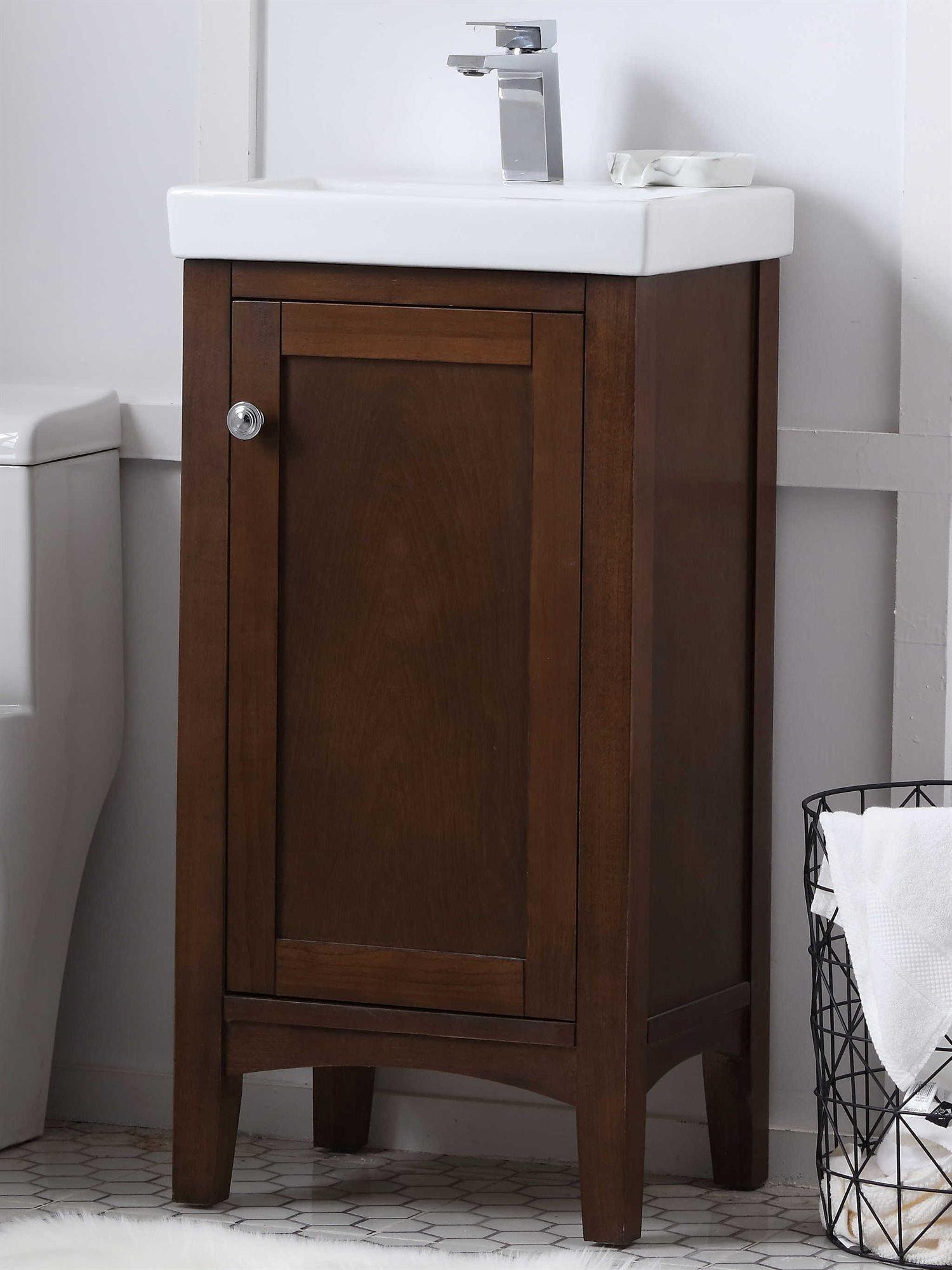 17 Wide Bathroom Vanity: Elegant Lighting Mod Antique Coffee 17'' Wide Vanity