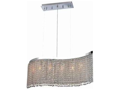 Elegant Lighting Moda Chrome Five-Lights 32'' Long Island Light EG1296D32CCL