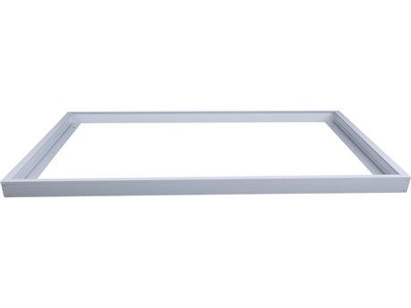 Elitco by Elegant Lighting White 48'' Wide Flush Mount Panel Light