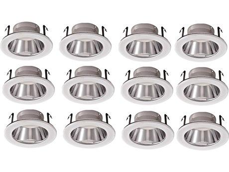 Elitco by Elegant Lighting Matte White & Aluminum 5'' Wide Recessed Reflector Trim