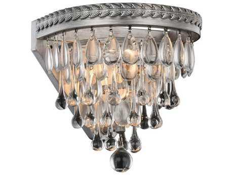 Elegant Lighting Nordic Antique Silver Wall Sconce EG1219W9ASRC