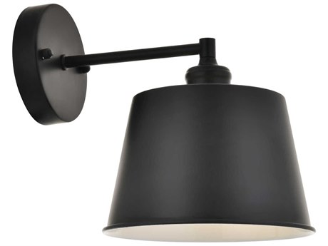 Living District by Elegant Lighting Black 8'' Wide Wall Sconce