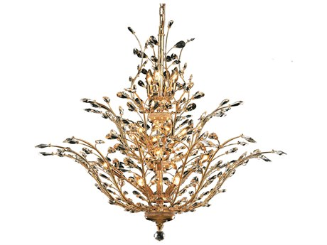 Elegant Lighting Orchid Royal Cut Gold & Crystal 18-Light 41'' Wide Chandelier EG2011G41G