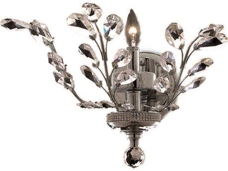 Elegant Lighting Orchid Royal Cut Chrome & Crystal Wall Sconce EG2011W16C