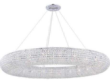 Elegant Lighting Paris Chrome 24''-Light 59 Wide Pendant Light EG2114G59CRC