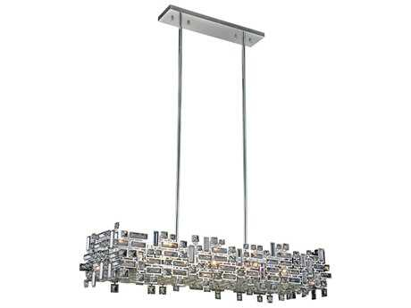 Elegant Lighting Picasso Chrome Eight-Light 44'' Long Island Light EG2100G44CRC